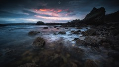 Dawn Patrol (Augmented Reality Images (Getty Contributor)) Tags: canon clouds coastline cullen landscape leefilters longexposure morayshire morning rocks scotland seascape sunrise water waves