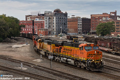 BNSF 6124 (Nathan Jurgensen) Tags: bnsf burlingtonnorthernsantafe kct kansascityterminal kansascity westbottoms coal train railroad railway railfan