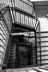 Staircase (Cate Snow) Tags: staircase stair outdoor blackandwhite