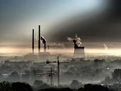 P8260560_A (PawelPach) Tags: krokw cracow krakow urban city landscape poland polska smog fog chimneys factory smoke smokestack stack urbanlandscape