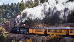 Durango & Silverton Narrow Gauge RR (Schoonmaker III) Tags: colorado coloradoroadtrip dsngrr durangosilvertonnarrowgaugerailroad durangoco train trainchasing narrowgauge coalfired k36 baldwink36 482