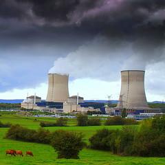 the clouds factory (mujepa) Tags: clouds smog power nuclear electricity nuages lorraine centrale électricité fumée nucléaire atomique cattenom
