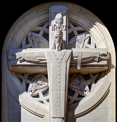 Christ the King Catholic Church (ioensis) Tags: road church architecture century dallas october king catholic texas christ cincinnati tx relief edward architect limestone preston 2014 schulte jdl ioensis mid20th 77532007067tmf1bc
