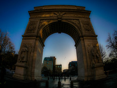 Washington Square Park NYC (THE.ARCH) Tags: nyc newyorkcity sunset architecture night arch washingtonsquarepark parks newyorkny stanfordwhite