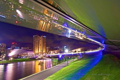 Adelaide at night (Valley Imagery) Tags: city bridge light night river australia adelaide southaustralia intercontinental torrens
