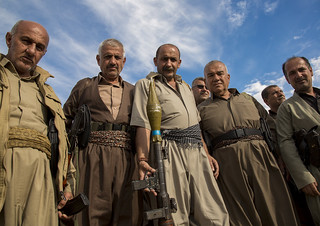 Kurdish Peshmergas Veterans On The Frontline, Kirkuk, Kurdistan, Iraq
