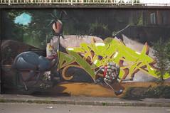 Spitzweg canimal (Pixeljuice23) Tags: streetart danger germany graffiti lisa doe mainz friendlyfire canimal pixeljuice runwallrun