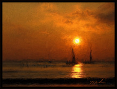 Sails in the Sunset (fotomark.net) Tags: sunset color photoshop maui digitalpainting sailb