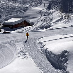 Alone in the white (Nespyxel) Tags: winter white snow landscape alone neve inverno trentino vipiteno snowscape montecavallo nespyxel stefanoscarselli