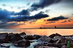 Morning at Jordan Harbour (anj_p) Tags: longexposure morning lighthouse lake rocks greatlakes jordan lakeontario shores jordanharbour