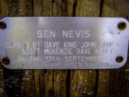 Na szczycie Ben Nevis (1344 m.n.p.m)