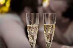 Champagne at Midnight (crossedreality) Tags: 2015 bokeh champagne flute kiss newyear project365