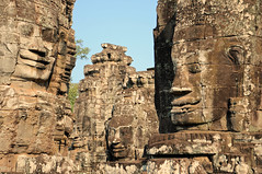Faces of The Bayon (Oliver J Davis Photography (ollygringo)) Tags: world old travel sculpture tower history archaeology monument statue stone 50mm ancient nikon ruins cambodia southeastasia cambodian khmer faces time famous smiles landmark icon unesco worldheritagesite serenity destination serene aged siemreap angkor thebayon past iconic thepast worldheritage bayon angkorthom d90 oliverdavisphotography oliverjdavisphotography