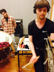 Arend and Stavros Recording percussion