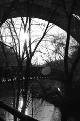 New Year's Eve (James Mundie) Tags: park sunset blackandwhite bw blancoynegro philadelphia monochrome forest twilight woods reserve monochromatic lensflare newyearseve biancoenero wissahickonvalley blancetnoir philadelphiapa wissahickoncreek schwarzweis copyrightprotected wissahickonvalleypark jamesmundie profjasmundie copyrightjamesgmundieallrightsreserved