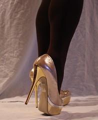 04 (read my Profile before anything!!!!!) Tags: gold high buffalo highheels plateau skirt heels heel stilettos