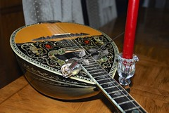 Bouzouki time! (ineedathis,The older I get the more fun I have....) Tags: art greek candle craft gift instrument strings abalone drama sakis bouzouki inlay motherofpearl nikond80 sterlingsilverrose