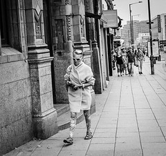 Walk on by (DCLH Photography) Tags: street old blackandwhite film 35mm lens photography 50mm flickr candid sheffield super olympus iso skool 400 xp asa ilford zuiko om20 anologue flickriver dclh monachrhome