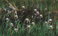 Floating Heads (caralan393) Tags: sculpture art floating heads canberra ang