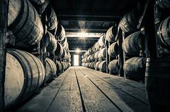 maturing (almostsummersky) Tags: wood winter wooden oak floor barrels kentucky barrel mature alcohol round bourbon distillery stacked frankfort charred whiteoak distill buffalotrace maturing