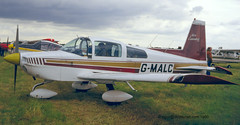 G-MALC - 1974 build Grumman-American AA-5 Traveller, still current (egcc) Tags: leicester east traveller pfarally 1980 aa5 lycoming o320 0664 egbg grummanamerican gmalc aa50664 aircoventry n6170a gbcpm