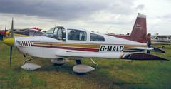 G-MALC - 1974 build Grumman-American AA-5 Traveller, still current (egcc) Tags: leicester east traveller pfarally 1980 aa5 lycoming o320 0664 egbg grummanamerican gmalc aa50664 aircoventry n6170a gbcpm