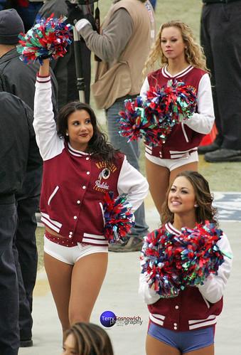 Redskinette Cheerleaders Maigan, Jade and Rachel K.