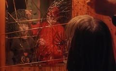 """Das doppelte Lottchen """"Two Times Lotte"""": Lotti, Heart, 2 Swans, Wire, My Mother, Mirror - Spontaner Aktionismus beim Lebend-Christbaum Abschmcken - Photoaktion ohne Vorbereitung: Lotti, meine Mutter, Spiegel, Draht, 2 Schwne, rosa Herz (hedbavny) Tags: vienna wien wood red orange brown game rot art texture net girl fence bathroom austria mirror sketch photo sterreich kid swan wire child play heart spiegel kunst web diary performance cage sketchbook kind note braun holz kfig schwan weaving herz weave tagebuch impression mdchen pullover spiel netz aktion gitter lotti korb gewebe badezimmer draht dasdoppeltelottchen skizze textur notiz eingesperrt spontan maserung erichkstner skizzenbuch geflecht kstner lottchen hnselundgretel aktionismus selbstgestrickt ausgesperrt photoaktion hedbavny ingridhedbavny wochenbuch twotimeslotte"""