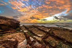 Sunrise, Dunbogan beach (http://martographyau.blogspot.com.au/) Tags: sea sun seascape colour beach nature water sunrise nikon rocks waves australia beaches