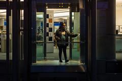 6/365: Going Down (stanfork) Tags: street city lake night photography utah library elevator salt