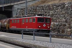 707_Ge 6-6 II am 25022015 in Tiefencastel (Jungferndorf41) Tags: schweiz rhb graubünden tiefencastel rhätischebahn
