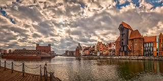 View on Motlawa River in Old Town Gdansk, Poland