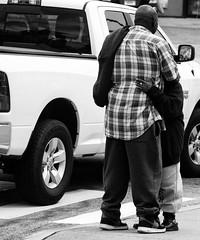 Hug, New London CT (asw12681photo) Tags: street city urban blackandwhite bw white black love boyfriend blackwhite team nikon girlfriend couple raw candid duo streetphotography couples marriage husband gritty selftaught wife ghetto bnw candidphotography nikond3000