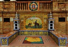 Banco de cermica dedicado a Ciudad Real en la Plaza de Espaa de Sevilla (Rafael Gomez - http://micamara.es) Tags: plaza en espaa de real la sevilla banco ciudad cermica azulejos dedicado provincias espaolas