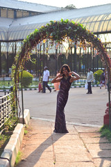 Seema in a Gown at Lalbagh Shoot (mynameisharsha) Tags: park girls light portrait india hot green nature girl beautiful beauty glitter pose 50mm prime evening nikon long pretty slim dress natural bangalore chick gal gown 18 glimmer lalbagh 50mmf18af d7100 mynameisharsha