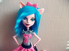 Don't care if you think I'm dumb (MyMonsterHighWorld) Tags: monster cat high doll kitty create mattel griffe a werecat