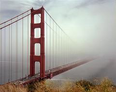 Golden Gate Bridge, Marin Headlands (sheelkapur) Tags: plaubel makina 67 mediumformat film ilovefilm ishootfilm filmisnotdead analog gameoftones ektar iso100 kodak 6x7 nikkor 80mm f28