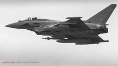 Typhoon FGR4 (Andrew Bloomfield Photography) Tags: aircraft andrewbloomfieldphotography flight militaryaviation photograph wwwandrewbloomfieldphotographycouk typhoonfgr4 fgr4 natmakepeace inflight zk356 typhoon
