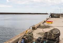 LOBSTER POTS/QUAY SIDE, AMBLE, NORTHUMBERLAND_DSC_9928_LR_2.0 (Roger Perriss) Tags: amble d750 lobster pots quay sea harbour