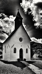 Small Church (s.tassinari) Tags: bw black white church sky mountains images pics pictures small ortisei biancoenero nero bianco chiesa cielo montagne immagini piccolo