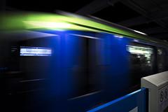 dp0q_160806_A (clavius_tma-1) Tags: dp0 quattro sigma  tokyo  hanedainternationalairport  monorail platform blue yellow green blur  station