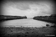 The Dock and West Pier (Rollingstone1) Tags: dock harbour pittenweem fife eastneuk marine fishing coast sea pentaxart blackandwhite bw outdoor landscape sky water monochrome
