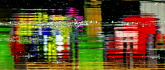 """Water Art: """"Abstract"""" lake reflections (peggyhr) Tags: pink flowers blue red brown white canada abstract black green water lines yellow reflections grey dock purple magenta textures alberta ripples colourful umbrellas thegalaxy elodea peggyhr bluebirdestates thegalaxyhalloffame super~sixstage2silver super~sixstage3gold frameit~level01~ artofimages~aoil1~ level1peaceawards super~sixbronzestage1 30faves~ dsc09119ab"""