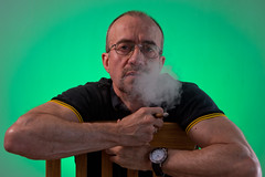 You looking at me? (ianc666) Tags: selfie cigar iwc selfportrait smoke smoker