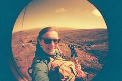 Midsummer Skiing (whatkeirasaw) Tags: scotland lomo lomography skiing midsummer fisheye glencoe cliffhanger redscale fisheye1 summerskiing scottishskiing midsummerskiing