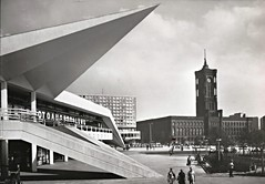Berlin, Germany, City Hall, Rathaus, Exhibition Hall at TV Tower (photolibrarian) Tags: berlingermany cityhall rathaus exhibitionhallattvtower ausstellungszentrumamfernsehturm haupstadtderddr