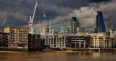 City of cranes. (Dirty Thumper) Tags: london sony nex 5n nex5n 3570 legacy manual zoom thames mirrorless brexit uk sonyphotographing minolta sr md classic mf vintage