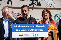 BC and Ahousaht First Nation launch a new partnership (BC Gov Photos) Tags: protocol premierchristyclark ahousaht economicdevelopment johnrustad