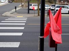 Colfax, Washington (craigdietrich) Tags: street car bike walk flag pedestrian walkway crosswalk