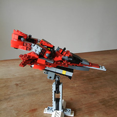 DSCN6843 (alfa145q_lego) Tags: lego legocreator redcreatures 31032 mecha vehicletransporter 31033 rebuild alternate